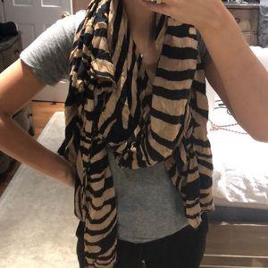 Soft zara zebra print scarf